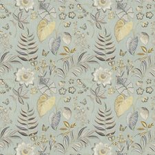 Robin S Egg Floral Decorator Fabric by Fabricut