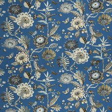 Cobalt Animal Decorator Fabric by Fabricut