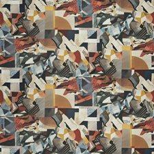 Earthwind Geometric Decorator Fabric by S. Harris