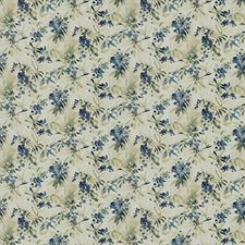 Blue Sand Floral Decorator Fabric by Trend