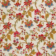 Document Floral Decorator Fabric by Greenhouse