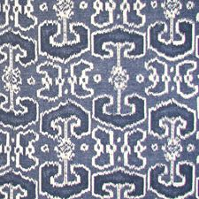 Blue/Creme/Beige Transitional Decorator Fabric by JF