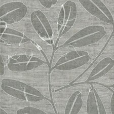Charcoal Botanical Decorator Fabric by Andrew Martin