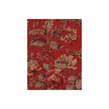 Red Botanical Decorator Fabric by Andrew Martin