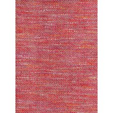 Red Berry Herringbone Decorator Fabric by Andrew Martin