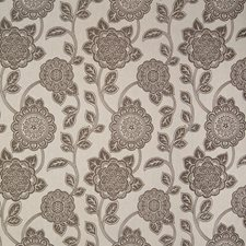 Mocha Floral Decorator Fabric by Greenhouse