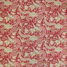 Crimson Tropical Decorator Fabric by Greenhouse