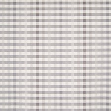 Pearl Grey Plaid Check Decorator Fabric by Greenhouse