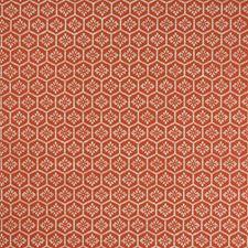 Garnet Geometric Decorator Fabric by Greenhouse