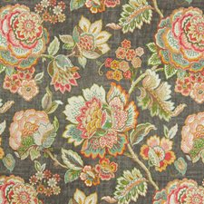 Cindersmoke Floral Decorator Fabric by Greenhouse