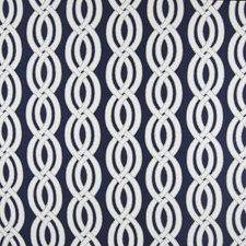 Navy Lattice Decorator Fabric by Greenhouse