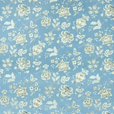 Blue Heaven Floral Decorator Fabric by Greenhouse