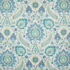 Aquamarine Medallion Decorator Fabric by Greenhouse
