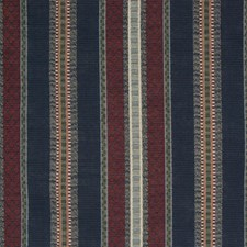Navy Stripe Decorator Fabric by Greenhouse