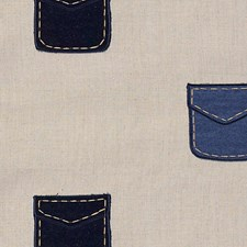 Denim/Sand Decorator Fabric by Scalamandre