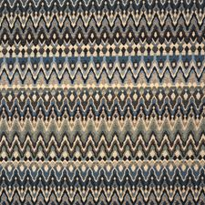 Black/Blue/Creme Traditional Decorator Fabric by JF