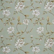 Aqua/Linen Botanical Decorator Fabric by G P & J Baker