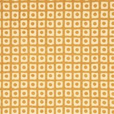 Gold Check Decorator Fabric by G P & J Baker