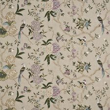 Linen/Multi Embroidery Decorator Fabric by G P & J Baker