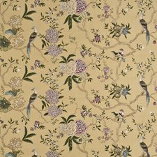 Antique Embroidery Decorator Fabric by G P & J Baker