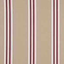Red Stripes Decorator Fabric by G P & J Baker