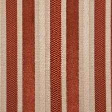 Terracotta Stripes Decorator Fabric by G P & J Baker