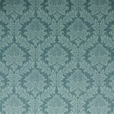Teal Damask Decorator Fabric by G P & J Baker