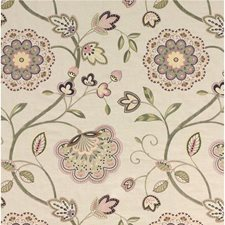 Tea Rose/Sage Embroidery Decorator Fabric by G P & J Baker