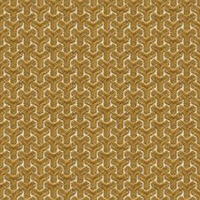Gold/Ivory Geometric Decorator Fabric by G P & J Baker