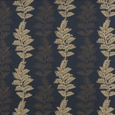 Royal Blue Embroidery Decorator Fabric by G P & J Baker