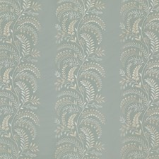 Soft Teal Embroidery Decorator Fabric by G P & J Baker