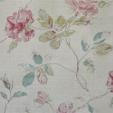 Turq/Pink/Nat Print Decorator Fabric by Lee Jofa