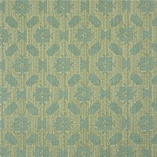 Aqua Geometric Decorator Fabric by Lee Jofa