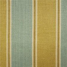 Olive/Aqua Stripes Decorator Fabric by Lee Jofa