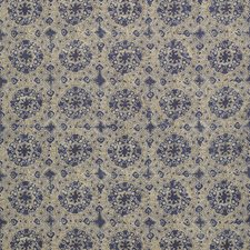 Sand/Blue Print Decorator Fabric by Lee Jofa