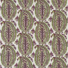 Plum/Green Paisley Decorator Fabric by Lee Jofa