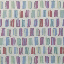 Blue/Rose Modern Decorator Fabric by Lee Jofa
