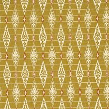 Lime/Or Geometric Decorator Fabric by G P & J Baker