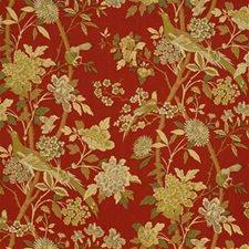 Tomato/Linen Decorator Fabric by G P & J Baker