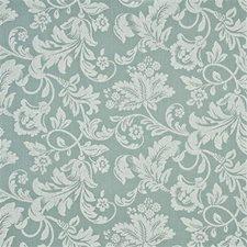 Aqua/White Damask Decorator Fabric by G P & J Baker
