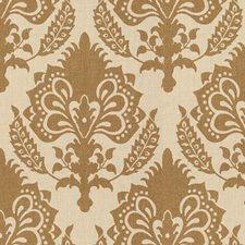 Bronze Damask Decorator Fabric by G P & J Baker