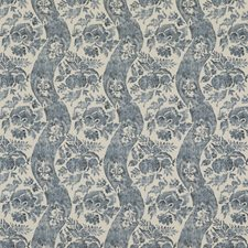 Indigo/Linen Print Decorator Fabric by G P & J Baker