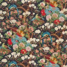 Indigo Botanical Decorator Fabric by G P & J Baker