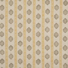 Ochre/Mole Print Decorator Fabric by G P & J Baker