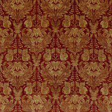 Indian Red Damask Decorator Fabric by G P & J Baker