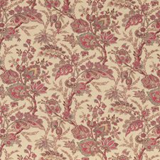 Red/Blue Paisley Decorator Fabric by G P & J Baker