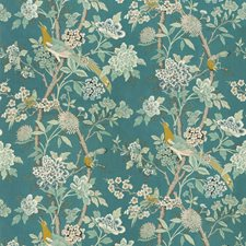 Teal Animal Decorator Fabric by G P & J Baker