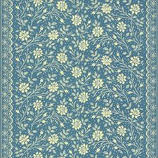 Shades Of Blue White Botanical Decorator Fabric by Brunschwig & Fils