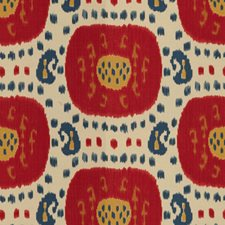 Pompeian Red/Oxford Blue Ikat Decorator Fabric by Brunschwig & Fils