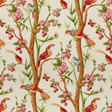Pink/Orange Print Decorator Fabric by Brunschwig & Fils